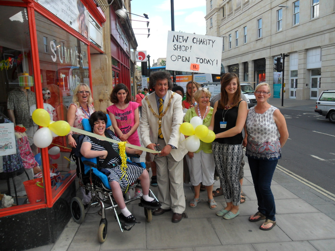 Charity Shop Opening group photo
